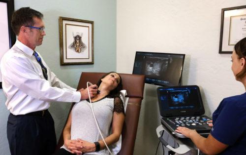 thyroid nodule treatment - office ultrasound study